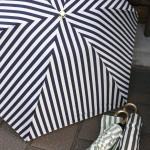 ストライプ 折りたたみ日傘