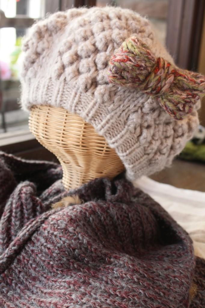 ②リボンベレー帽
