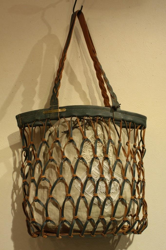 ④カラー編みバック