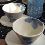 青い花のカップ&ソーサー