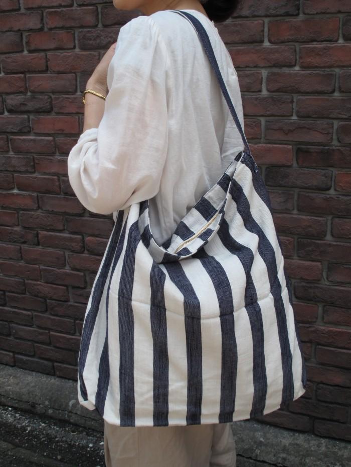 ⑤ストライプバッグ