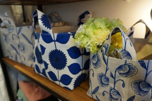 4花柄収納バッグ