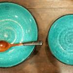 <ブルッツ トルコブルー盛り皿・カレー皿>